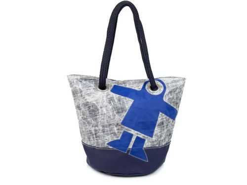 Shopping bag made of recycled sailcloth GUY COTTEN base.
