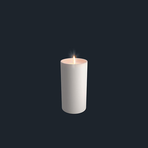 LED light wax CANDLE - size 7,8 X 15,2 cms - with shoulder