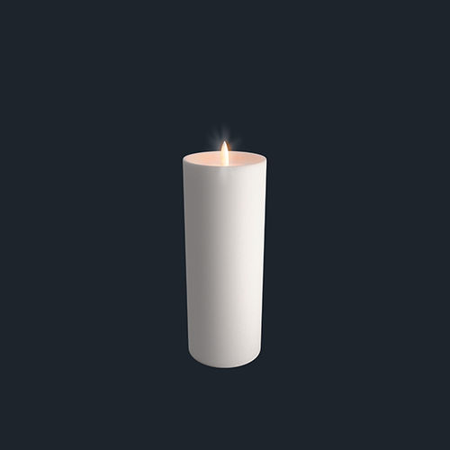 LED light wax CANDLE - size 7,8 X 20,2 cms - with shoulder