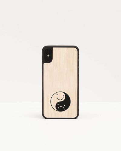 Wood Cover with printed design - HAPPY SAD -