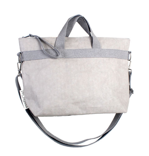 Business bag in CELLULOSE FIBER - GREY COLOUR -