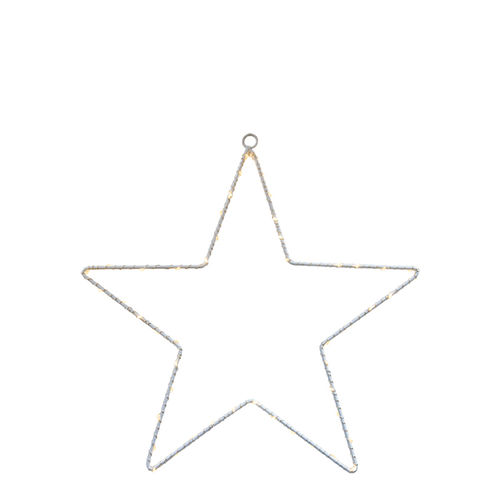 50 led STAR h. 20 - with battery -