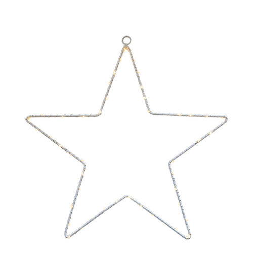 50 led STAR h. 30 - with battery -