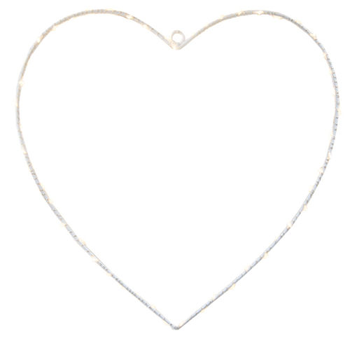 50 led HEART h. 50 - with battery -
