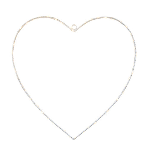 50 led HEART h. 30 - with battery -