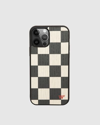 Wood Cover - BLACK CHECK -
