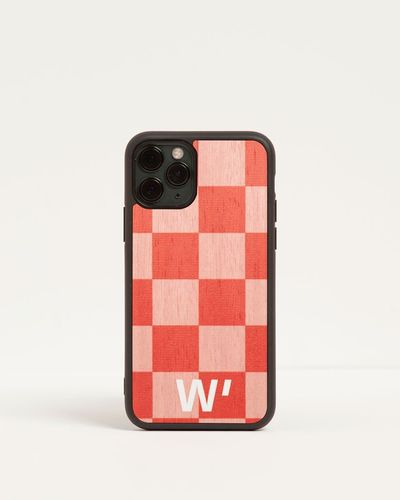 Wood Cover - PINK CHECK -